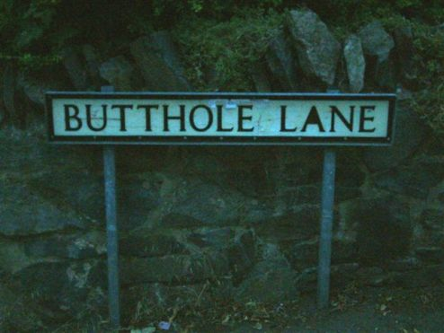 A Sunday stroll down Butthole Lane