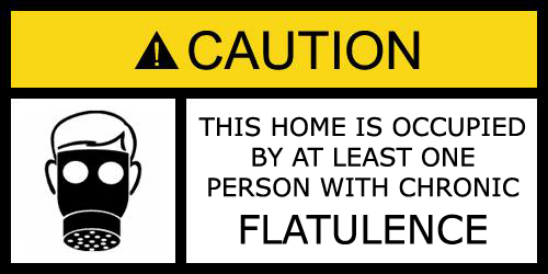 CHRONIC FLATULENCE WARNING
