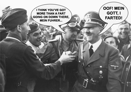 """Flatulent Führer and his Dubious """"Doctor"""" 